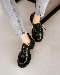Кожаные модные туфли весна &acute21