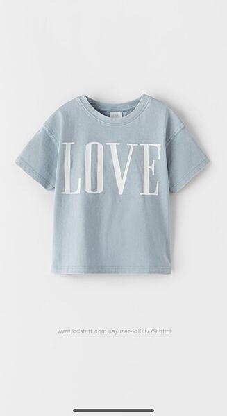 Zara футболка для девочки 134р