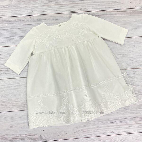 Трикотажное платье для крещения Дарья