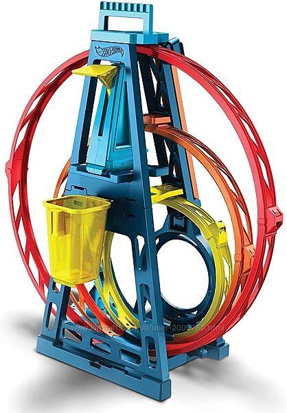 Hot Wheels Track builder Тройная петля