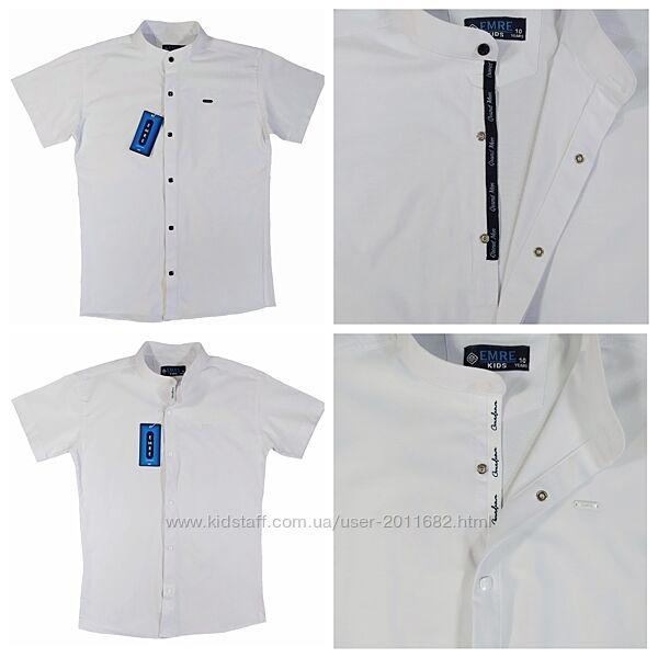 Рубашка шведка приталенная для мальчиков 134-158/164 Турция