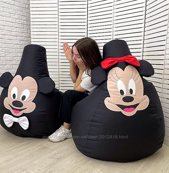 Кресло мешок Микки Маус из оксфорда