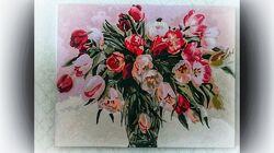 Картина маслом  Тюльпаны
