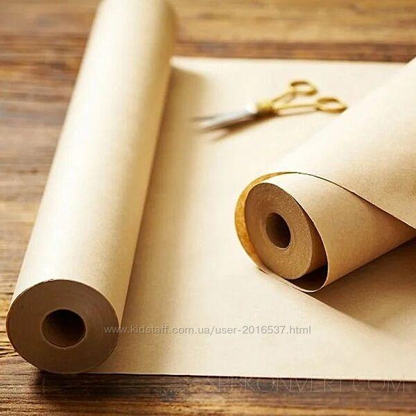 Крафт бумага в рулоне для упаковки фаст фуда и нарезки на пакеты