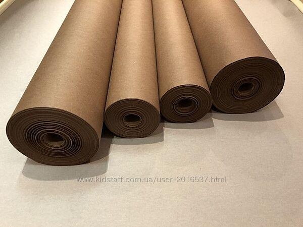 Крафт бумага в рулоне 102см для упаковки продуктов и одежды, печати