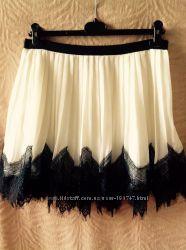 Нарядная юбка с кружевом на девочку-подростка 14-16лет
