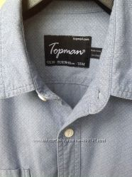 Коттоновая рубашка деним Topman р. S-M