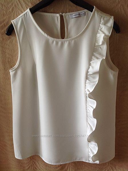 Классическая блуза-топ Reserved с воланом р.38 S-M