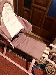 Детские санки геркулес премиум glamour fijo розовые