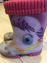 Резиновые сапоги на девочку Demar
