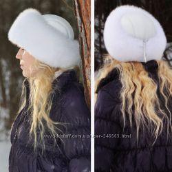 Зимняя шапка натуральный мех- как Новая за Пол Цены