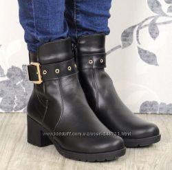 Кожаные зимние ботинки, все размеры