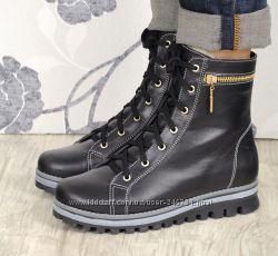 Зимние кожаные ботинки, все размеры