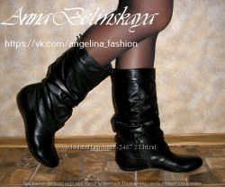 Кожаные сапожки Angelina