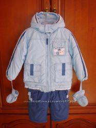 Зимняя куртка и комбинезон Coccobello, размер 80-86см