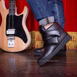 Осенние ботинки деми 37 размер кожа