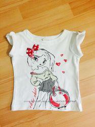 Продам фирменную футболку WOJCIK на девочку рост 92