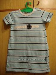 модное  хлопковое платье в морском стиле от Сocodrillo на рост 86см