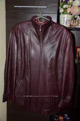 Кожаная куртка бу на пышную красавицу состояние идеальное