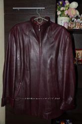 Куртка кожаная большого размера бу но состояние идеальное