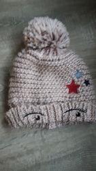 Теплые шапочки для девочки от 3 до 6  лет