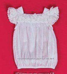 Белоснежная кружевная блуза последний размер 12 мес