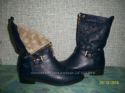 Кожаные ботиночки - сапожки