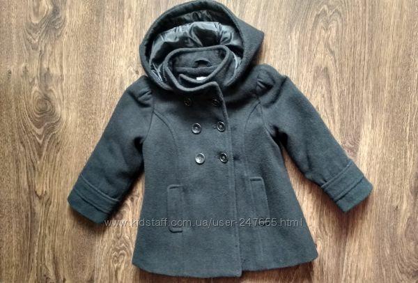 Шерстяное пальто для девочки Old Navy
