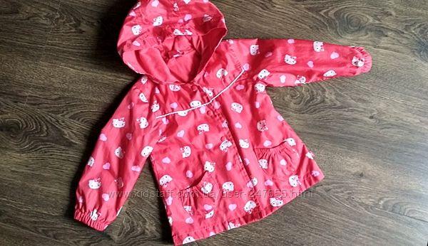 Плащ ветровка дождевик Mothercare Hello Kitty в подарок резиновые сапоги