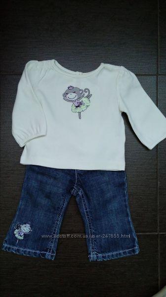 Комплект для девочки Gymboree -  джинсы и реглан