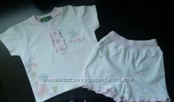 Летний комплект для девочки - футболка и шорты