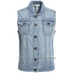 оригинальная безрукавка adidas NEO Sleeveless Denim Vest Jeans размер XS