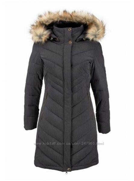 длинное стёганное функциональное пальто - парка Polarino 42 размер