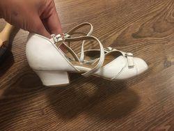 Бальные туфли 21.5 см натуральная кожа