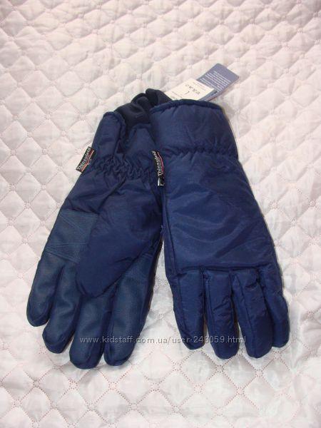 Очень тёплые синие перчатки