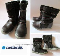 кожаные сапожки melania-Италия р-р 25,