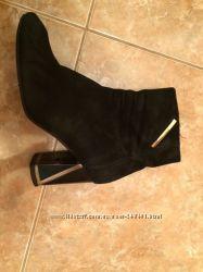 Ботинки женские, натуральный замш, размер 38