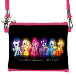 Сумки, сумочки с принтами лошадок  My Little Pony, с лошадками май литл пон