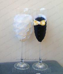 Свадебные бокалы Жених и Невеста