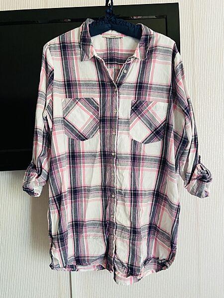 Коттоновая рубашка большой размер