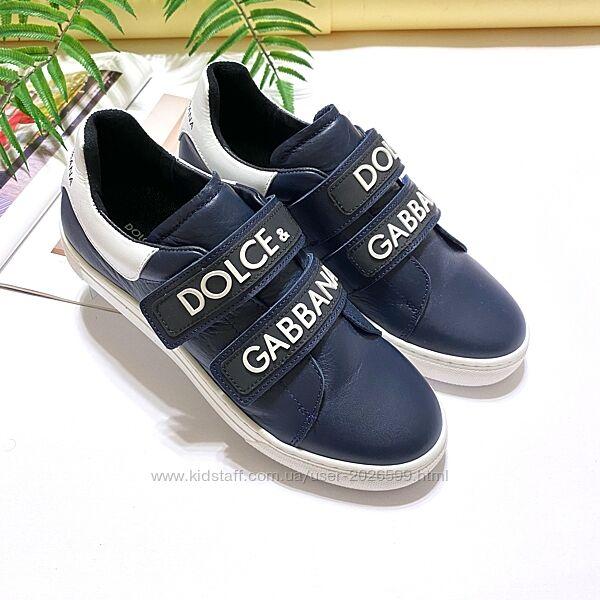 Брендовые кожаные кроссовки Dolce&Gabbana