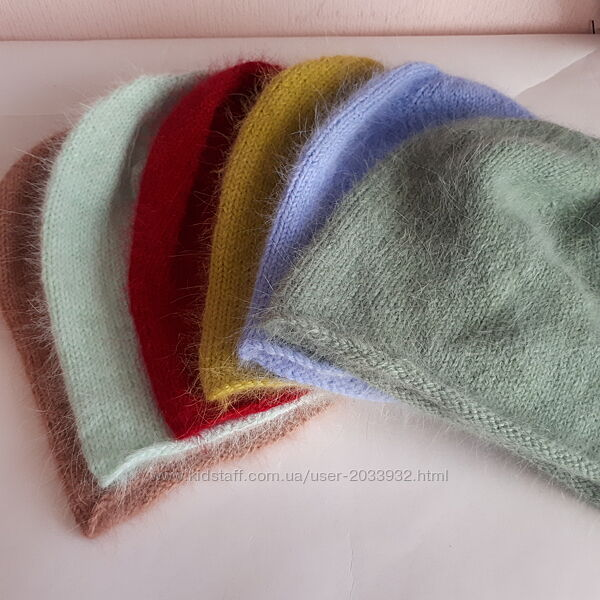 женская шапка из пуха норки, шапка бини