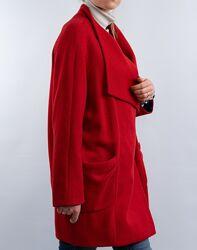 Красное шерсятное пальто Only