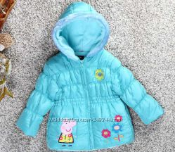 Курточки  демисезонные с Пеппой для  девочек