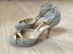 Туфли, босоножки Италия, 37р, новые, стильные, натуральный нубук