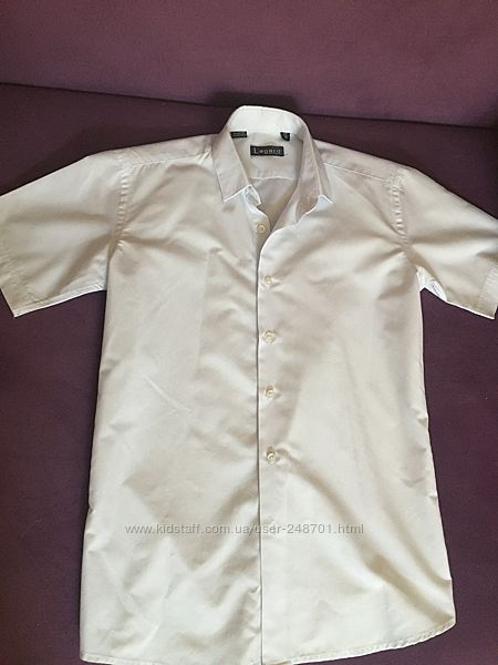 Белая рубашка 11-14 лет