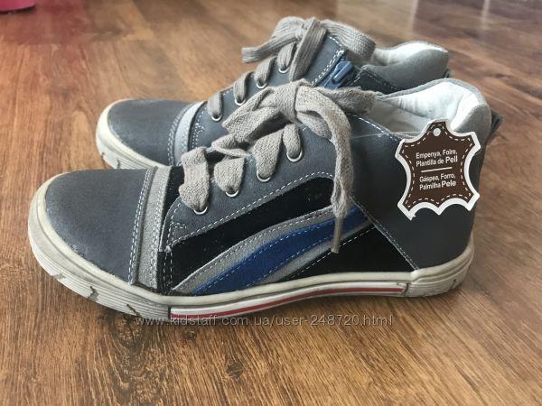 Натуральні високі кеди-черевички Andre