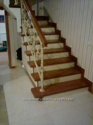 Обшивка лестниц деревом недорого