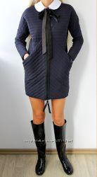 Стильное стеганое пальто р. L 46-48