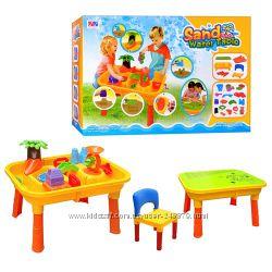 Столик-песочница детский со стульчиком и крышкой M 0832 UR
